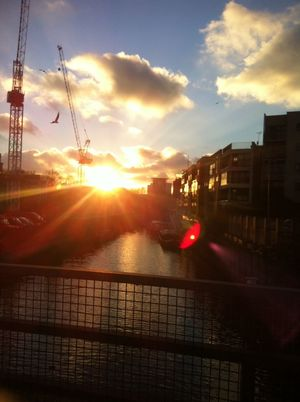 Eastend Sunset London Canal
