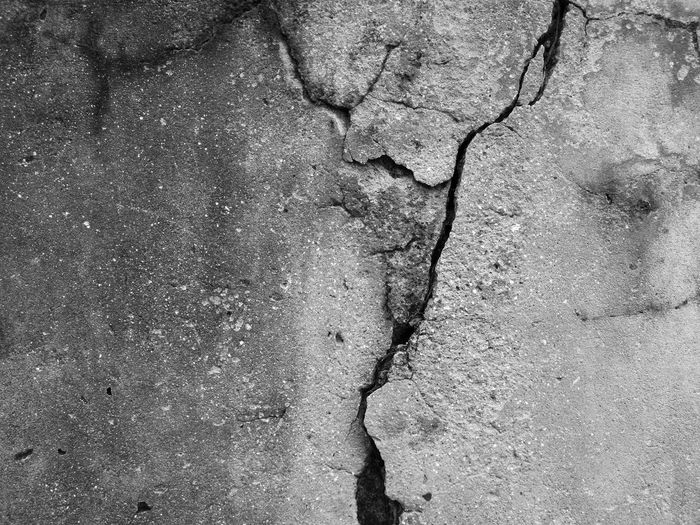 Textured  Outdoors Cracked Wall Close-up Backgrounds Blackandwhite Thailand Adayinthailand