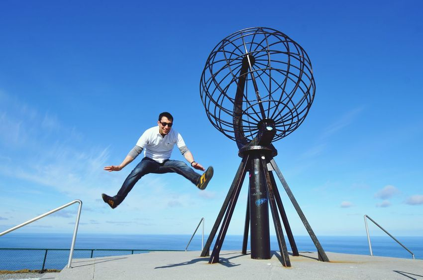Cape2cape Jump That's Me Nordkapp Capturing Freedom