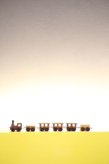 Backlight Decoration Indoors  No People Tiny Tiny Train Toy Wooden Toy Wooden Train Yellow