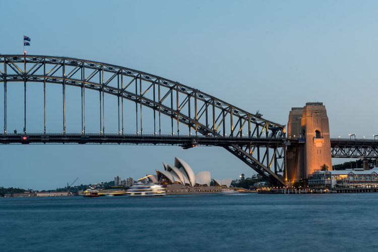 Australia Sydney Sydney, Australia Sydney Opera House Sydney Harbour Bridge Harbour Bridge Operahouse Built Structure Water Architecture Sky Bridge - Man Made Structure Transportation Connection Waterfront Travel Destinations City River No People Travel Clear Sky Tourism Nature Building Exterior Arch Outdoors Arch Bridge Bay