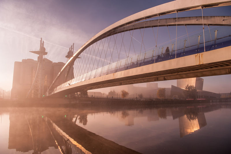 #urbanana: The Urban Playground BBC Salford Quays Architecture Bridge Bridge - Man Made Structure Built Structure City Media City Salford Media City Uk Modern Outdoors Reflection River Sky Transportation Waterfront My Best Photo