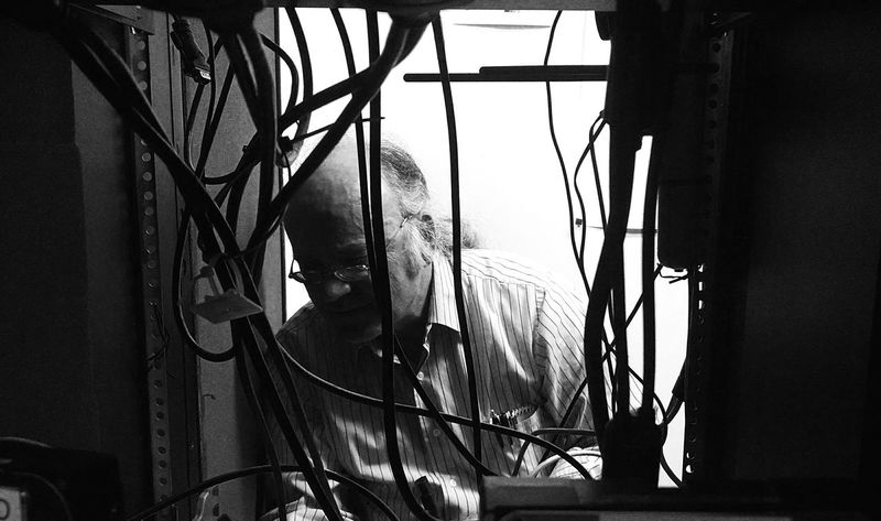 Black & White Working Computer Surgery  NEM Black&white Make Magic Happen Shades Of Grey