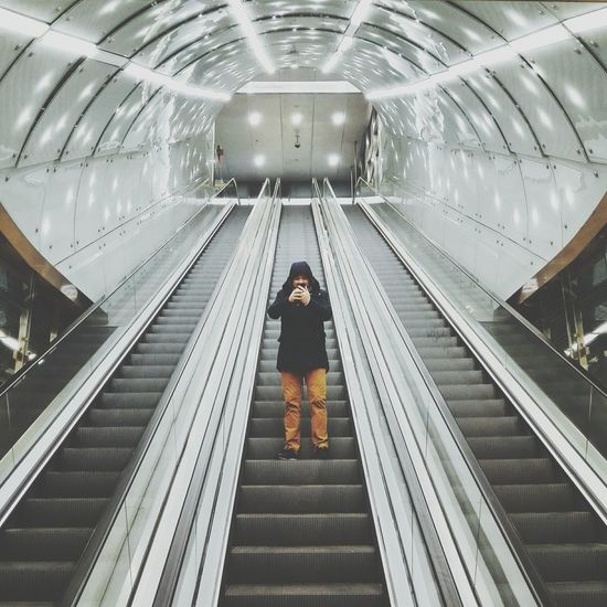 Symmetry Metro Stairs Warsaw Kopernik EyeEm Gallery EyeEmbestshots EyeEm Masterclass