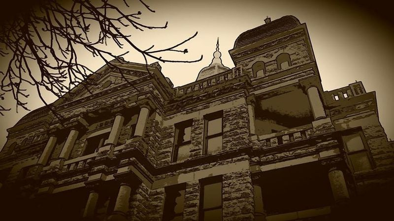 Architecture Building Exterior Built Structure City Courthouse Denton, Texas Façade Low Angle View No People Outdoors Sky