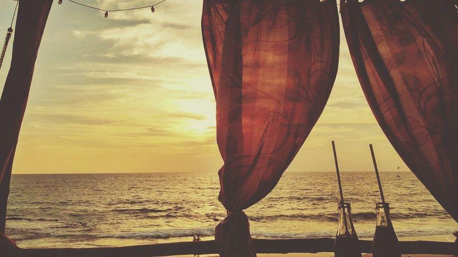 Sea Beach Horizon Over Water Water Nature Sunset Vacationtime Goodvibes Goatrip
