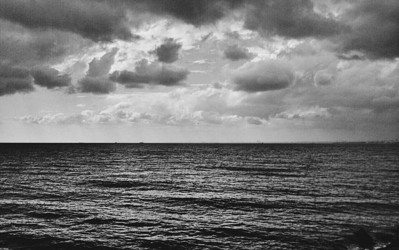Clouds And Sky Sea And Sky Black & White Amazing View