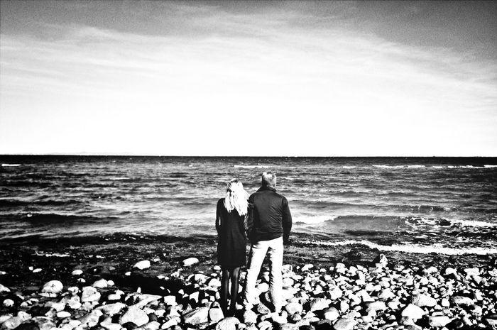 Dad, I love you Blackandwhite Monochrome Landscape Silhouette