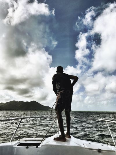 Seychelles Beauty In Nature Sailor Scenics Skyporn Boat Ride Mooring View From Behind Shotoniphone7 Seychelles Islands