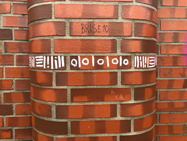 ill0|0|0|0|0lli Brick Wall Red Text No People Communication Outdoors Day