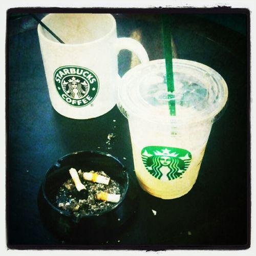 drink Black coffee, White coffee, and smoking hahaha Coffee