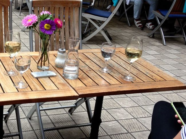 Dining Table Dring Drinking Food And Drink Handy On The Table Outdoors Table Taking Photos Wine Not