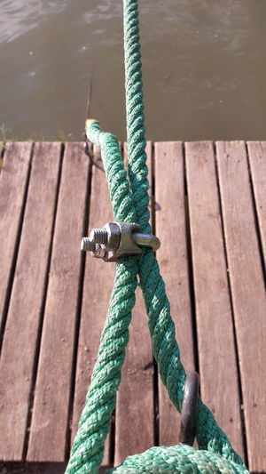 Wood - Material Outdoors Green Color No People Water Nautical Vessel Nature Day rope Rope Rope Art Ropes And Lines Green Ropes Green ROPE WALK