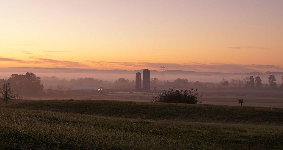 Sunrise across