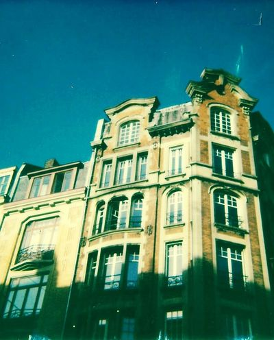 Polaroid style Architecture Building Exterior Window Façade Low Angle View Built Structure Residential Building No People Outdoors Day City Sky France🇫🇷 Lille Polaroid 19th Century Buildings