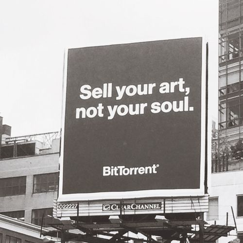"""""""Sell your art, not your soul"""" at Everyman Espresso on October 22, 2014 in New York City. #wiseadvice"""