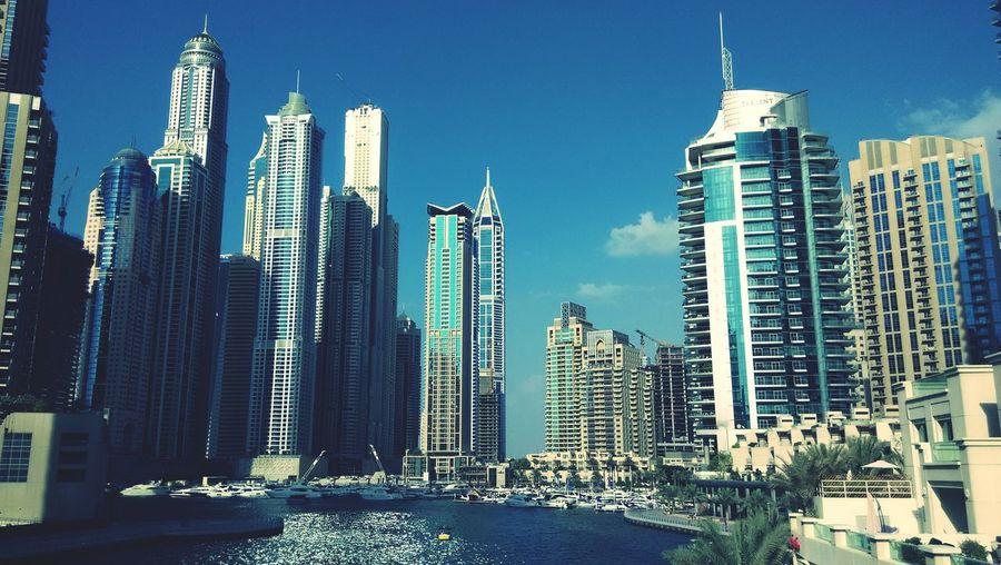 The beautiful architecture of Dubai Marina
