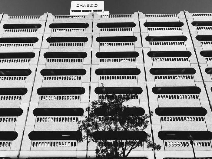 Row of balcony against sky