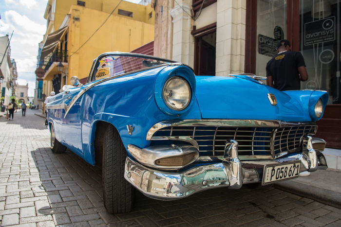 Another classic... American Blue Car City Classic Car Colorful Cuba Havana Latin America The Street Photographer - 2017 EyeEm Awards Vehicle Let's Go. Together. Been There. An Eye For Travel Mobility In Mega Cities This Is Latin America