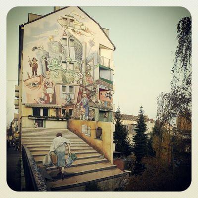 Walking around Dusseldorf