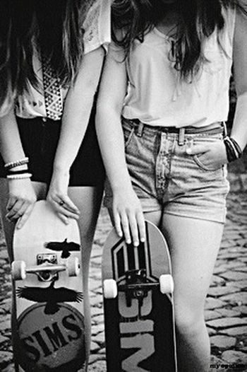 Skateboarding Sexylegs Girls Blackandwhite Skateboard Skategirls Black & White Ontheroad
