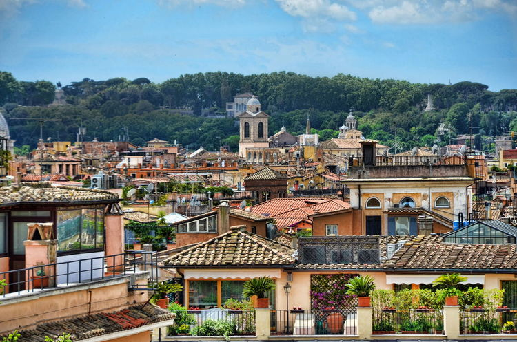 Above The Roofs Architecture Building Exterior Built Structure City Cloud Cloud - Sky Day Outdoors Residential Building Residential District Residential Structure Roma Rome Italy Roof Sky Tourism Town TOWNSCAPE Travel Destinations Moving Around Rome