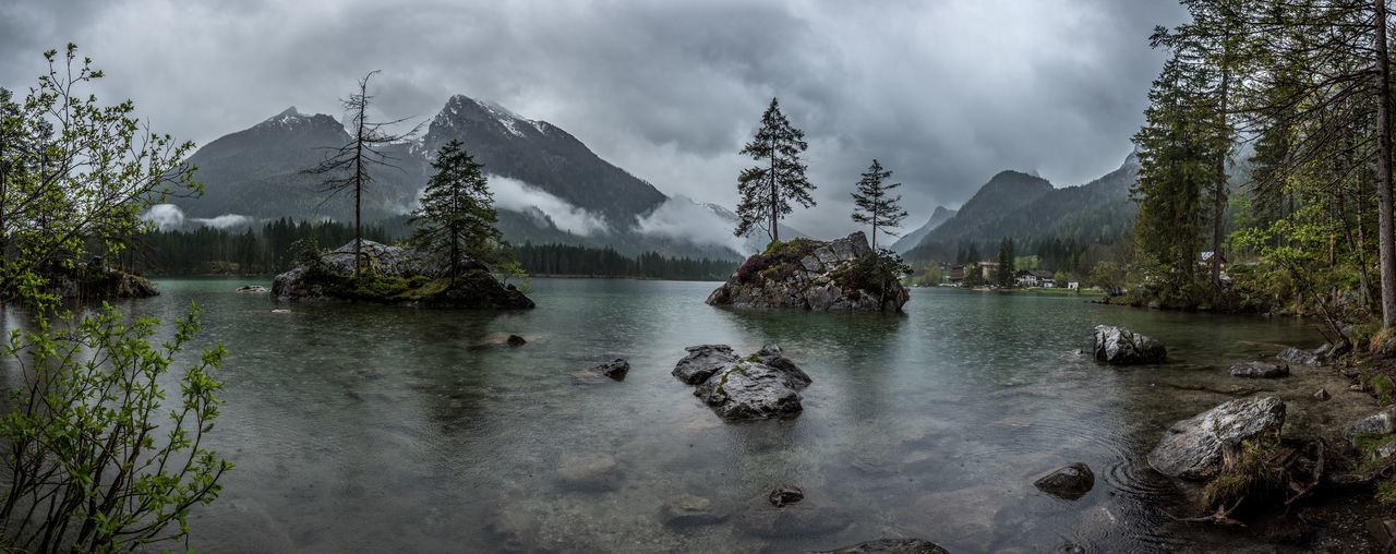 Alps Bavarian Alps Beauty In Nature Berchtesgaden Berchtesgaden , Germany Berchtesgadener Land  Cloud - Sky Day Germany Hintersee Mountain Mountain Range Nature No People Outdoors Ramsau  Scenics Sky Tranquility Tree Water