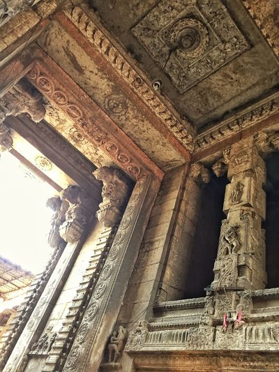 A temple's entrance.. Architecture Temple Carving Indian Architecture IPhoneography Building