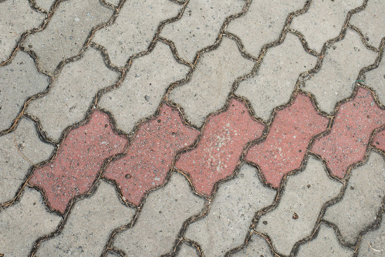 Bricks pattern for background. Full Frame Pattern Backgrounds High Angle View No People Textured  Footpath Paving Stone Day Outdoors Stone Flooring Close-up Street Directly Above Cobblestone Cracked Sidewalk Nature Repetition Arid Climate