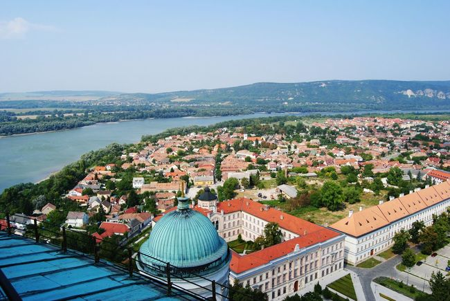 High Angle View Water Outdoors No People Horizon Over Water Landscape Clear Sky Architecture Cityscape Sky City Danubi River Riu Danube Hungary