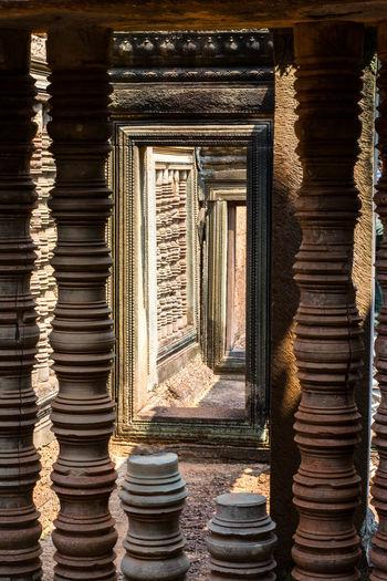 Angkor Angkor Light Light And Shadow Perspective Spirituality Architecture Historic Architectural Column Colonnade Column Civilization Ancient Civilization Visual Creativity