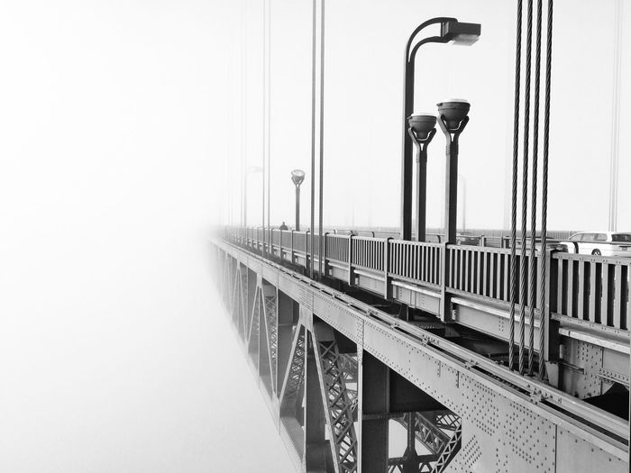 Golden gate bridge during foggy weather