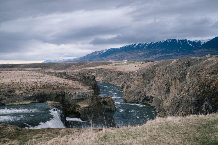 iceland Roadtrip Hiking Iceland Adventure Beauty In Nature Landscape Mountain No Poeple Outdoor Photography Outdoors Snowcapped Mountain Waterfall
