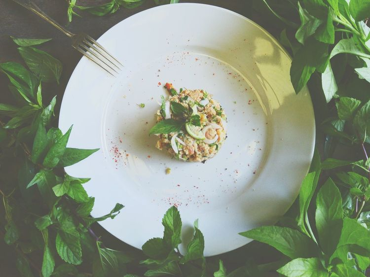 Food Porn Awards Spicy And Sour Catfish Salad with Herbs & Basil In The Garden Foodphotography EyeEm Best Shots Beinspired Cooking!