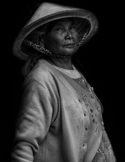 Portrait of an asian senior woman