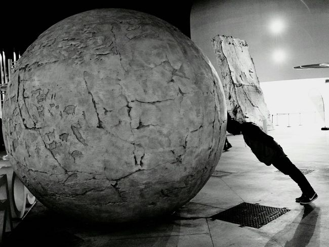 Abstract Night One Man Only Architecture Black & White Rolling Stone Big Ball EyeEmNewHere The Week On EyeEm Black And White Friday