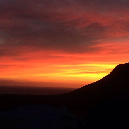 One of those magnificent finishes to a day Sunset Cape Town