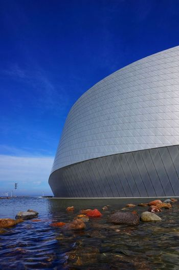 Modern building against blue sky