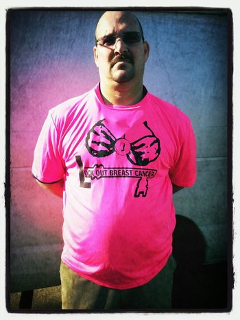 Another shirt sold for Lockoutbreastcancer.org Breastcancerawareness I appreciate my buddy supporting this cause