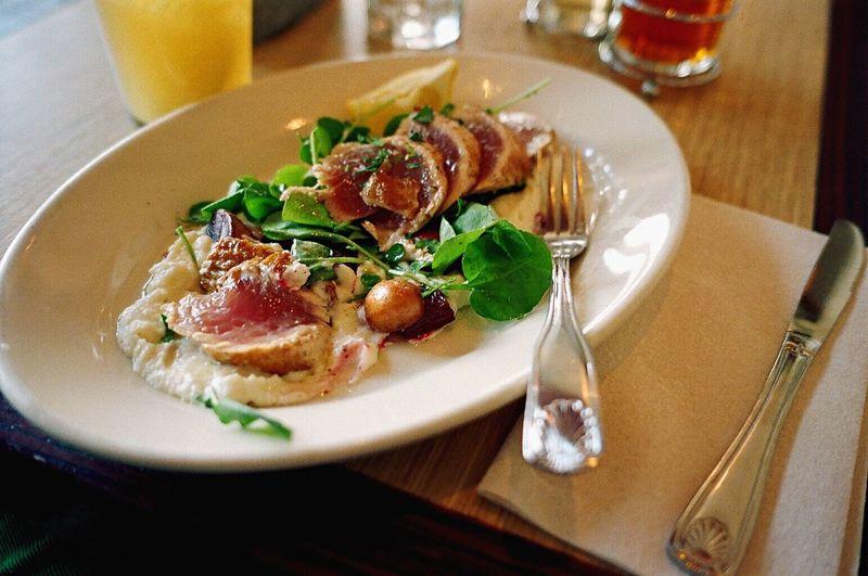 Seered Ahi Tuna Food And Drink Ready-to-eat Plate Restaurant Film Klasse W Koduckgirl