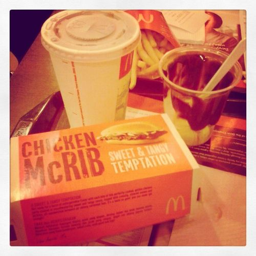 MCD for dinner. Thank you new friend for bringing me to makan! :)