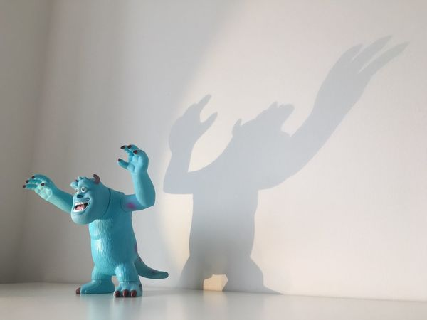 Sulley Scary Bubble Bath Holder With A Scare Shadow...x Childhood Figurine  Toy Toyphotography Toys Toycommunity Toy Photography First Eyeem Photo Disney Monster Monsters INC Sulley Shadow Scare Scaring