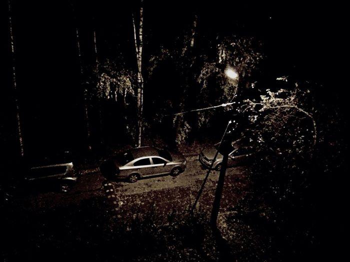Car Night Blackandwhite Russia