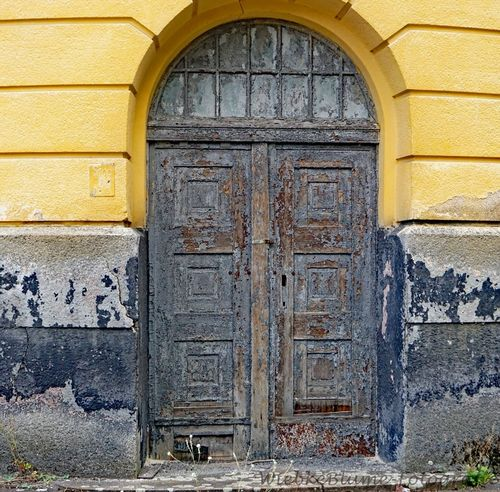 Lost Places Arch Architecture Building Building Exterior Built Structure Closed Day Door Entrance No People Old Outdoors Protection Security Stone Wall The Past Wall Wall - Building Feature Weathered Wood - Material Yellow