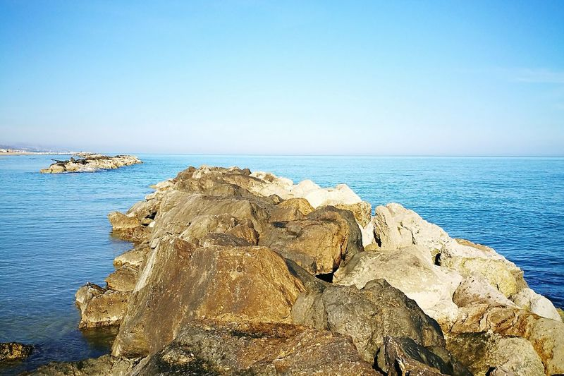 Sea Blue Sky Water Scenics Beauty In Nature Rocks And Water Bassa Marea