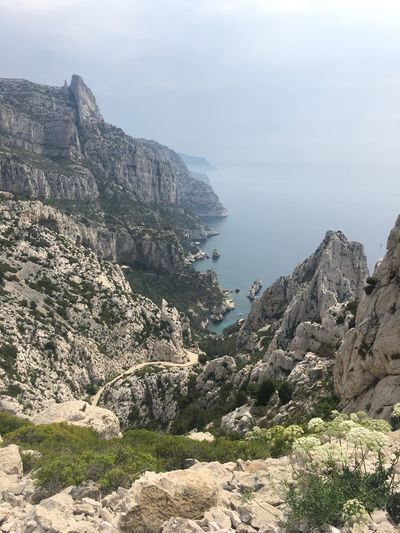 Travel Photography View Travel Landscape_photography Landscape Cliffs Sea Mediterranean  Calanques  Sugiton Marseille Tranquility Beauty In Nature Tranquil Scene Sky Rock Scenics - Nature Mountain Water Nature