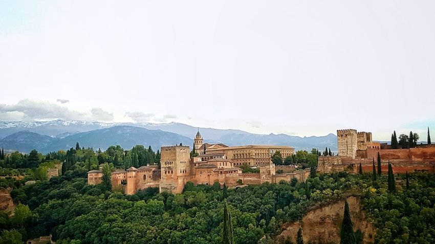 Destination Europe Picturesque Mountains Siteseeing Spanish ScenicSPAIN Granada Outdoors Region Andalusia Andalucia, Spain Travel Photography Travel Tourist Andalucia Spain Sierra Nevada Alhambra Moorish Moor  No People Architecture Building Exterior Panorama