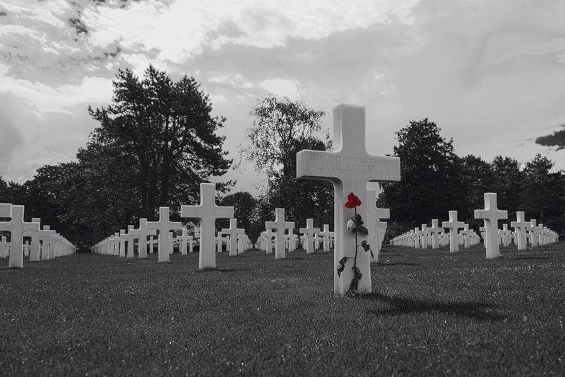 D-Day Beaches Memorial Tombstone Omaha Beach