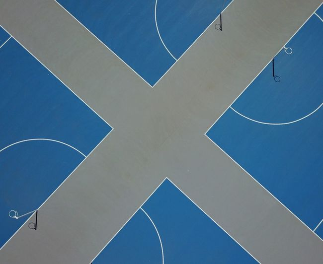 Drone  Dronephotography Aerial View Aerial View Colour Vibrant Color Color Vibrant Curve Lines Lines And Shapes Pattern Design Sports Photography Sports Sport Court Netball Basketball Court Basketball Blue No People Full Frame Day Backgrounds Outdoors Sport Architecture Tennis Court