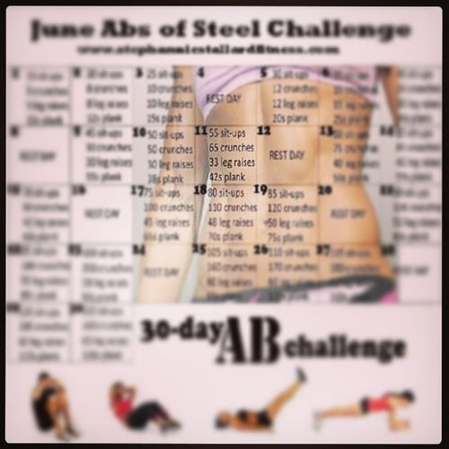 And for tonight's workout. Juneabsofsteelchallenge Motivation Makingprogress Skinnytofit